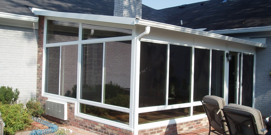 White interior and exterior with Glass Trapezoids and Glass Kickpanels