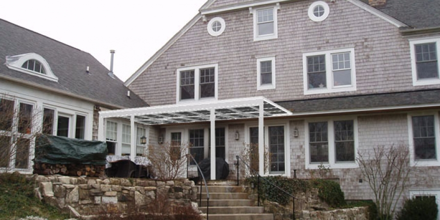 White Interior And Exterior With CONSERVAGlass Select. Patio Cover Glass  Roof White Interior ...