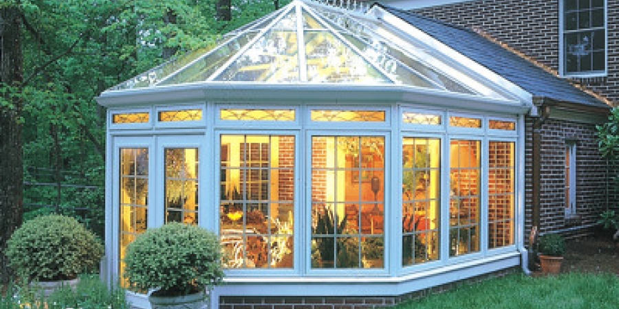 White exterior and Northern White Pine interior with glass transoms