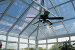 Georgian Conservatory Aluminum Glass Roof Design White with glass transoms