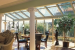 Straight Eave Glass Roof Design with Glass Kickpanels