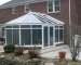 Victorian Conservatory Aluminum Glass Roof Design White with glass transoms