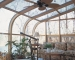 Curved Eave Wood Glass Roof Design Northern white pine interior with awning windows